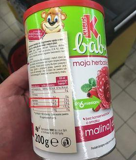 Herbatki granulowane dla niemowląt to sam cukier?