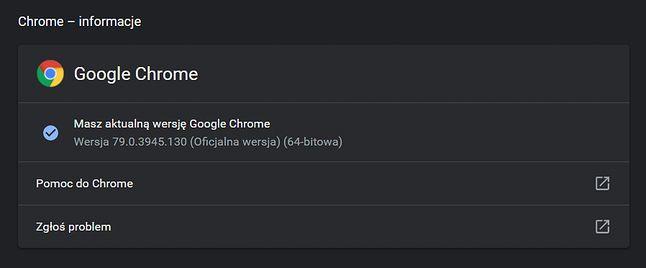 """Aktualizacje Chrome'a, także te do """"dużych wersji"""", domyślnie instalują się automatycznie w tle."""