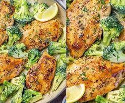 Prosty kremowy kurczak z brokułem. Pychota! Przepis hitem Instagrama