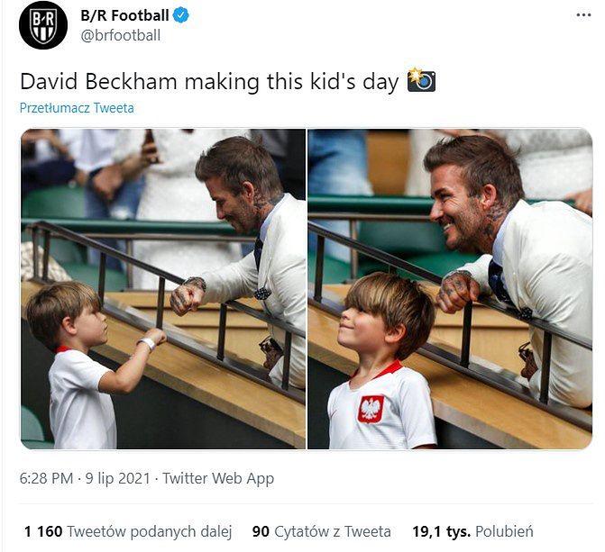 """Przybił """"żołwika"""" z Beckhamem. Chłopiec z Polski podbił sieć"""