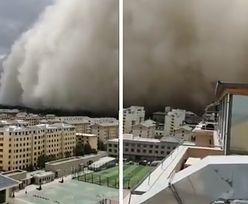 Fala miała 100 metrów wysokości. Przerażające nagranie z Chin