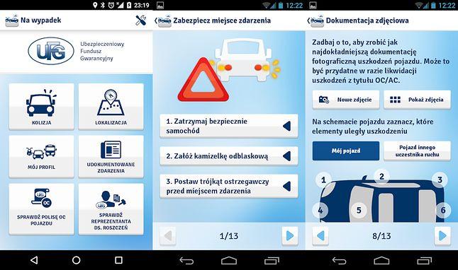 UFG Na Wypadek na Androidzie.