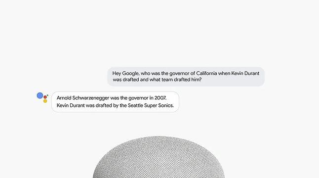 Asystent Google potrafi odpowiadać na skomplikowane pytania, źródło: prezentacja Google I/O 2018.