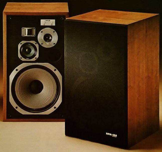 Pionner HMP-100 konkurent legendarnych JBL L100, które były wersją hi-fi monitorów studyjnych 4312