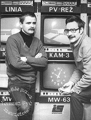 Prowadzący program Spektrum: Bogdan Bogusławski i Tomasz Pyć.