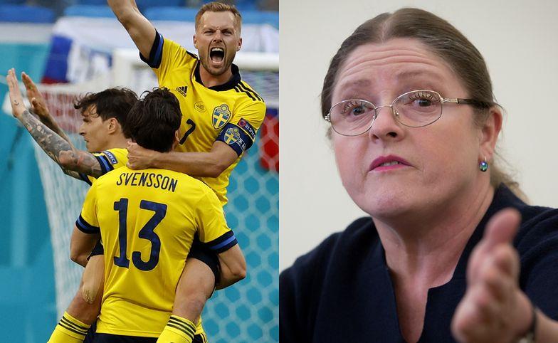 """Euro 2020. Krystyna Pawłowicz szokuje przed meczem ze Szwecją. """"Jak dzika barbaria"""""""