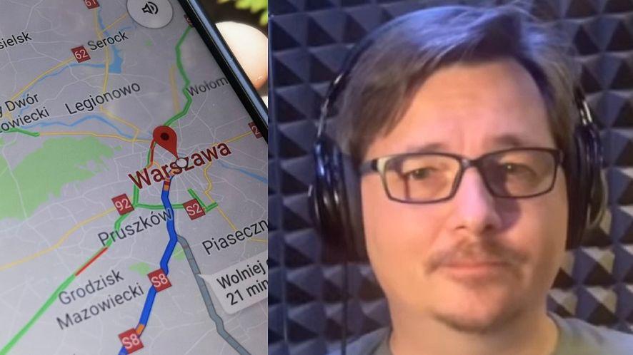 Mapy Google znów przemawiają ludzkim głosem, fot. Oskar Ziomek / YouTube (Jarosław Juszkiewicz)