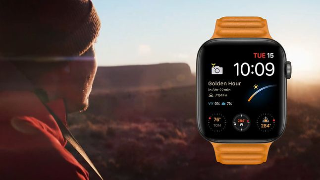 Watch Series 6 z tarczą stworzoną na potrzeby fotografów, fot. stopklatka z prezentacji Apple Event 2020 / YouTube.