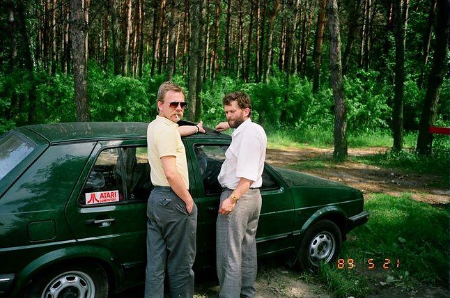 Wiesław Migut (z prawej) w drodze na targi w Związku Radzieckim (1989 r.) źródło: W. Migut
