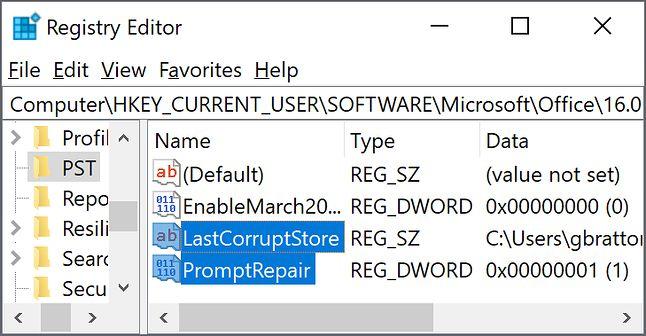 te właśnie klucze powinniśmy usunąć z rejestru przy tym problemie, fot. Microsoft