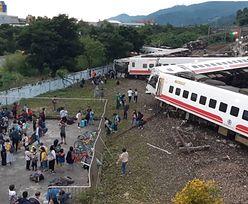 Katastrofa kolejowa na Tajwanie. Zginęły co najmniej 22 osoby
