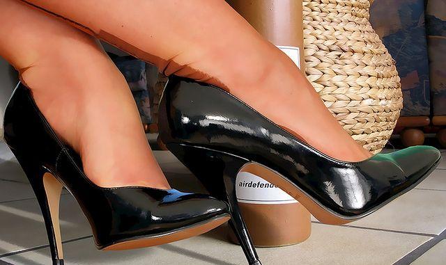 Buty na wysokich obcasach