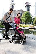 Wózek dziecięcy w mieście