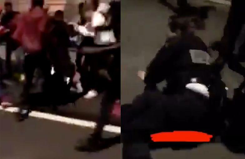 Przerażające filmy z Francji. Nagrali lincz na policjantce i zamieszki na ulicach