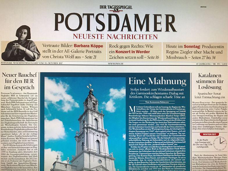 W Poczdamie odbudują kościół, który ma związki z Hitlerem i pierwszym rozbiorem Polski.