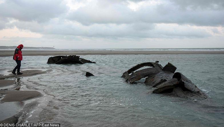Morze odsłoniło niemiecki okręt podwodny. Utknął we Francji 101 lat temu