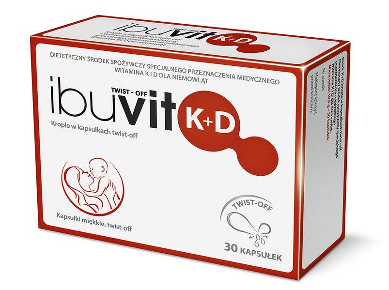 Krople w kapsułkach - witamina K+D