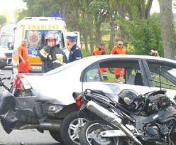 Wypadek motocyklistów. Kobieta wjechała w grupę mężczyzn. Nie żyje naczelnik OSP