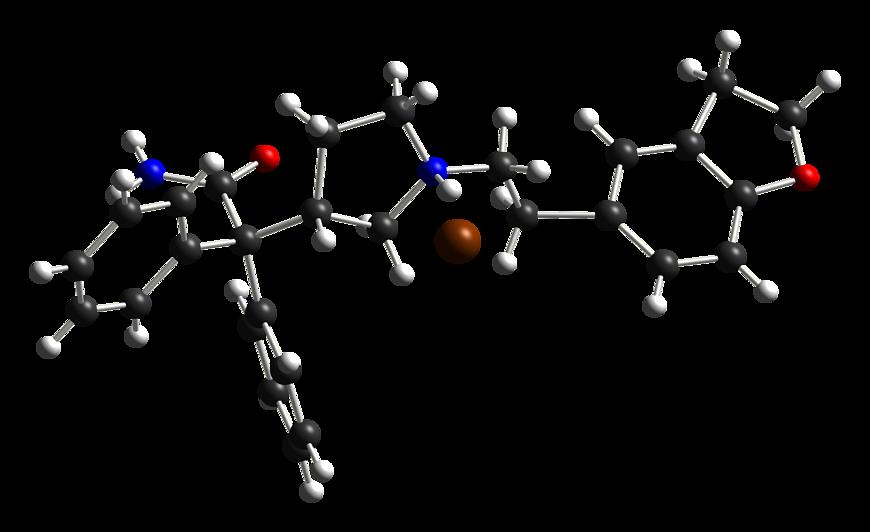 Schemat budowy cząsteczki daryfenacyny