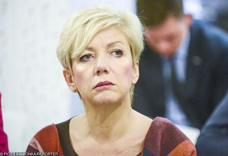 Podczas odkrycia urządzenia w biurze Agnieszki Hanajczyk trwało spotkanie członków partii