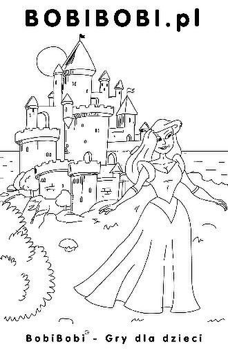 Księżniczka - kolorowanka