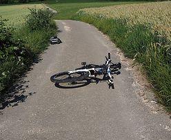 13-latek prowadząc BMW potrącił rowerzystę. Miał wyjątkowego pecha