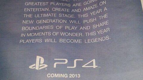 PlayStation 4 w Europie? Wygląda na to, że też w 2013 roku