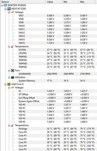 OC i5-11600K - zegar 4.9GHz, 1h godzina pracy w cyklu load-idle.