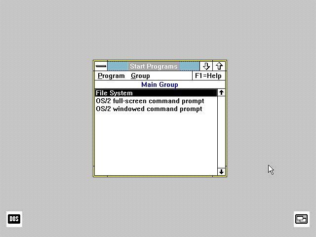 Presentation Manager. Wygląda znajomo, prawda? (fot. OS/2 Museum)
