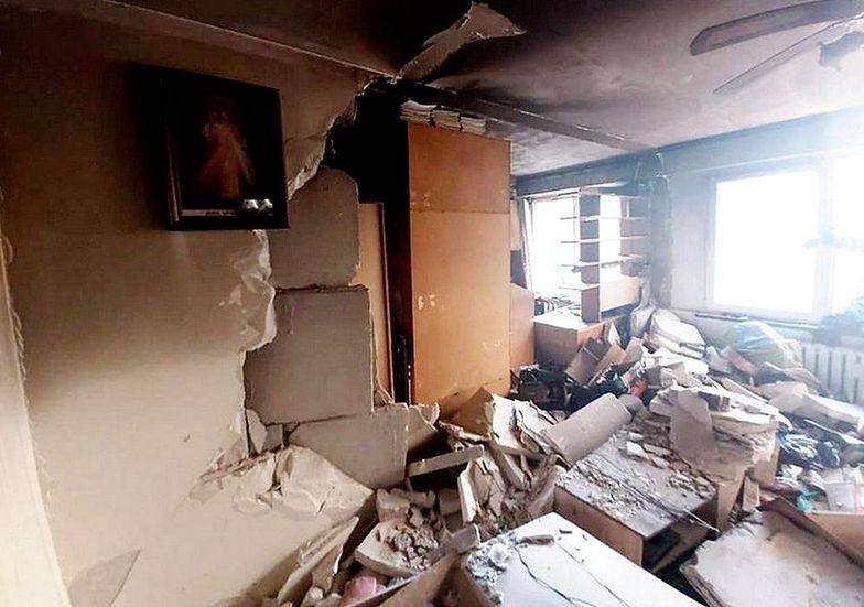 Zdjęcie po eksplozji w Białymstoku. Jeden szczegół od razu rzuca się w oczy