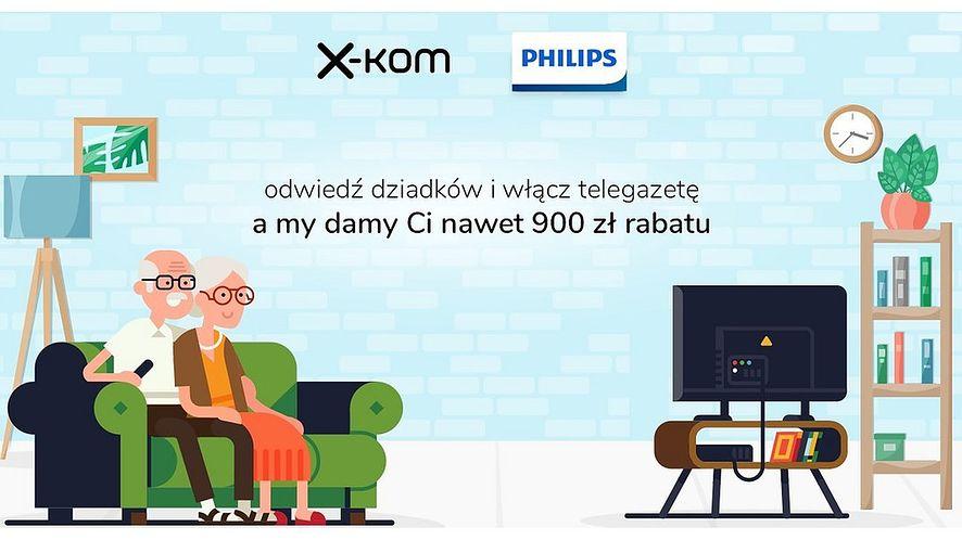 x-kom i Philips zachęcają do włączenia telegazety, fot. materiały prasowe