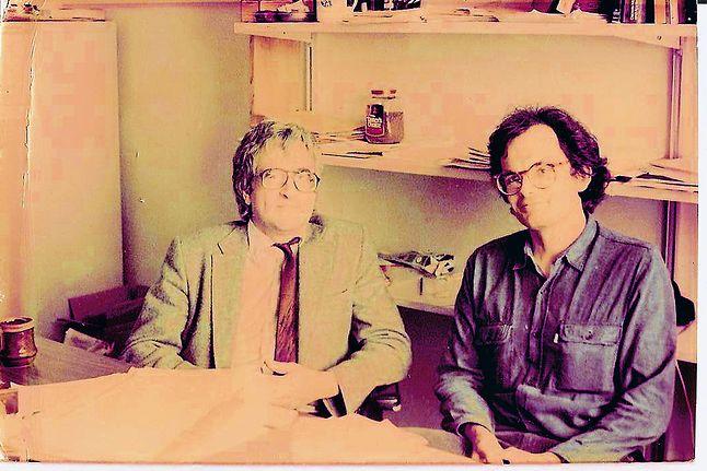 Witold Lipski i Wiktor Marek będący już wtedy profesorem w University of Kentucky Computer Science. Zdjęcie wykonane podczas jego wizyty w Lexington jesienią 1983 roku.