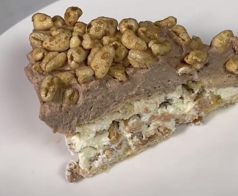 Ciasto Kinder Country bez pieczenia. Smakuje jak lody