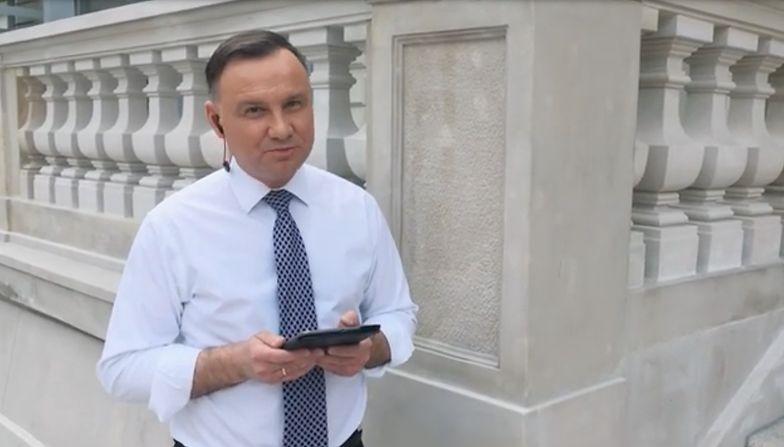 Prezydent Andrzej Duda w roli rapera