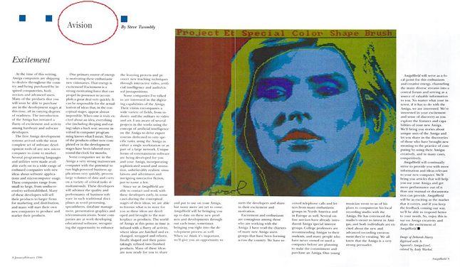 Skan pisma Amiga World z wywiadem z Warholem, fot. Amiga World/Archive.org