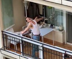 Wyniósł balkonowe występy na kolejny poziom. Hit sieci czasu pandemii