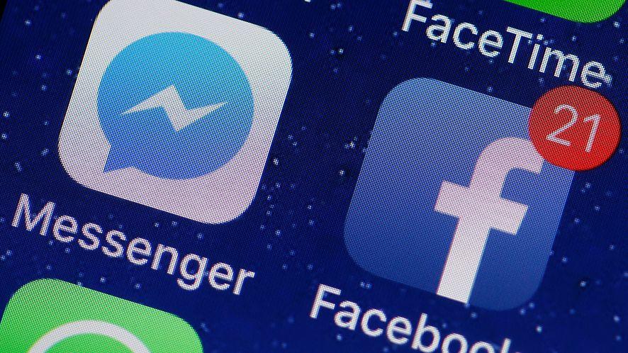 Ikony aplikacji Messenger i Facebook na ekranie smartfona. Zdjęcie ilustracyjne (Getty Images)