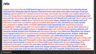 Pierwsze wydanie Bonsole. - Okno Bonsole z uruchomionym przykładowym programem - odpowiednikiem ls