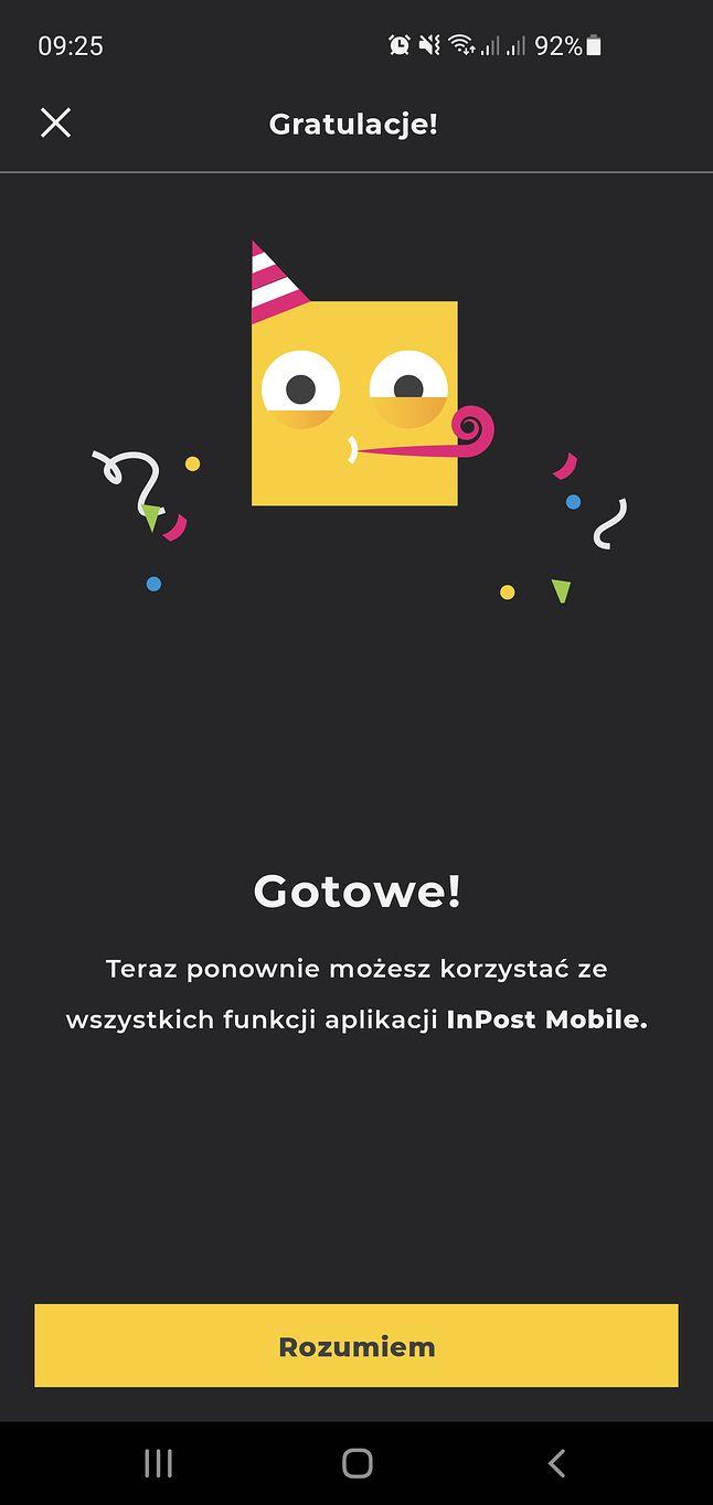 Ponowna weryfikacja numeru telefonu w aplikacji InPost Mobile