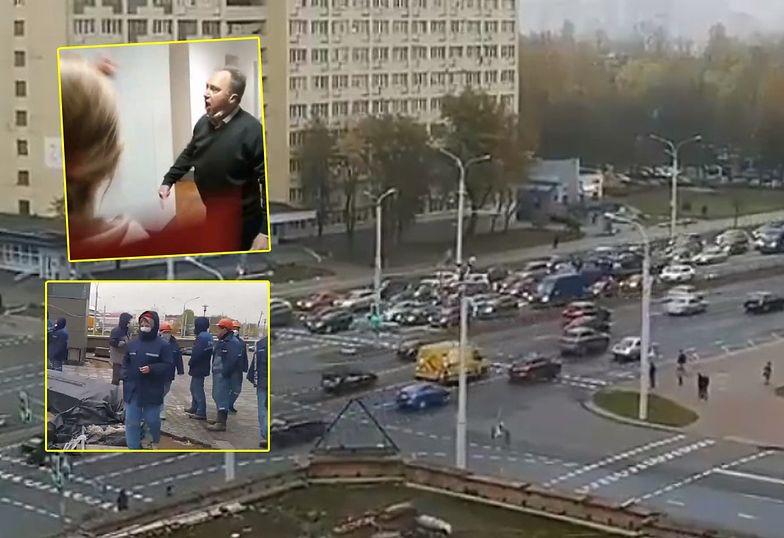Niesamowite obrazki z Białorusi. Skończył mu się czas. Kraj sparaliżowany