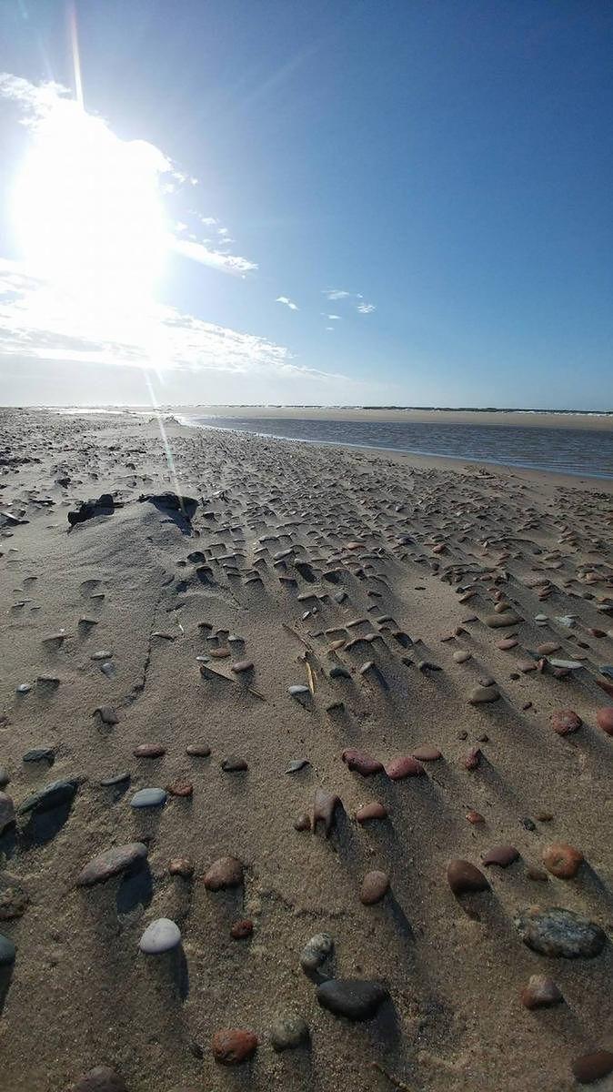 Plaża w Rowach poza sezonem
