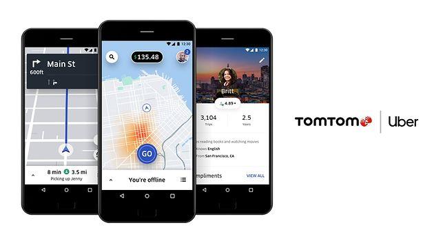 TomTom chwali się zacieśnieniem współpracy z Uberem, fot. materiały prasowe TomTom.