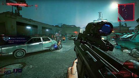 Cyberpunk 2077 zamieniony w Borderlandsy. Spektakularny mod do gry