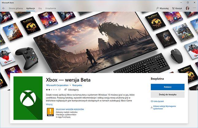 Oto powiew przyszłości: Xbox też nie jest już aplikacją UWP.