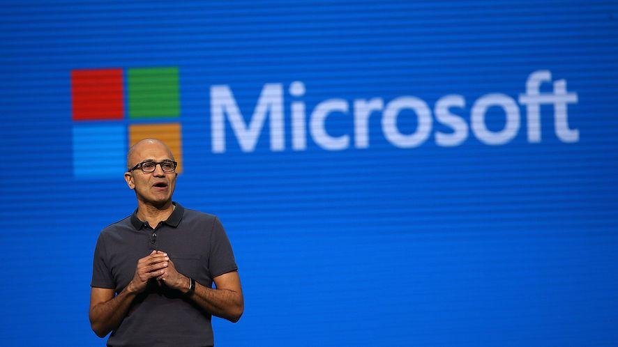 Satya Nadella, prezes Microsoftu, zaprezentował plany dotyczące oprogramowania (Getty Images)
