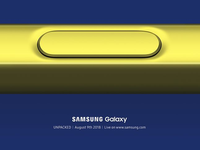 Zaproszenie na premierę nowego modelu z serii Galaxy.