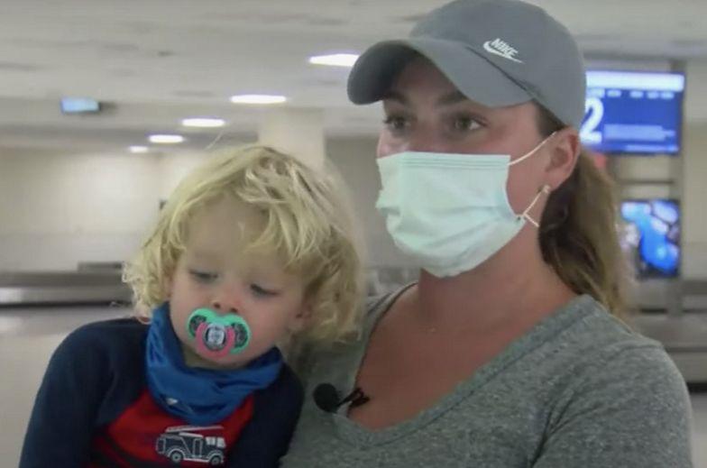 Dwulatek zdjął maseczkę. Natychmiastowa reakcja stewardes