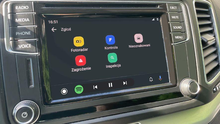 Trwają wewnętrzne testy Yanosika w Androidzie Auto