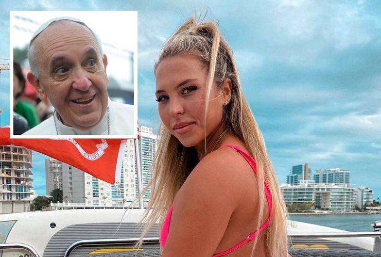 Afera z papieżem Franciszkiem. Brazylijska modelka zabrała głos