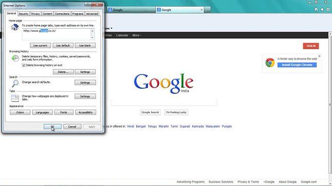 Oto, jak Google reklamuje swoją przeglądarkę.